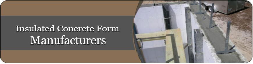 Icf manufacturers for Icf concrete forms for sale